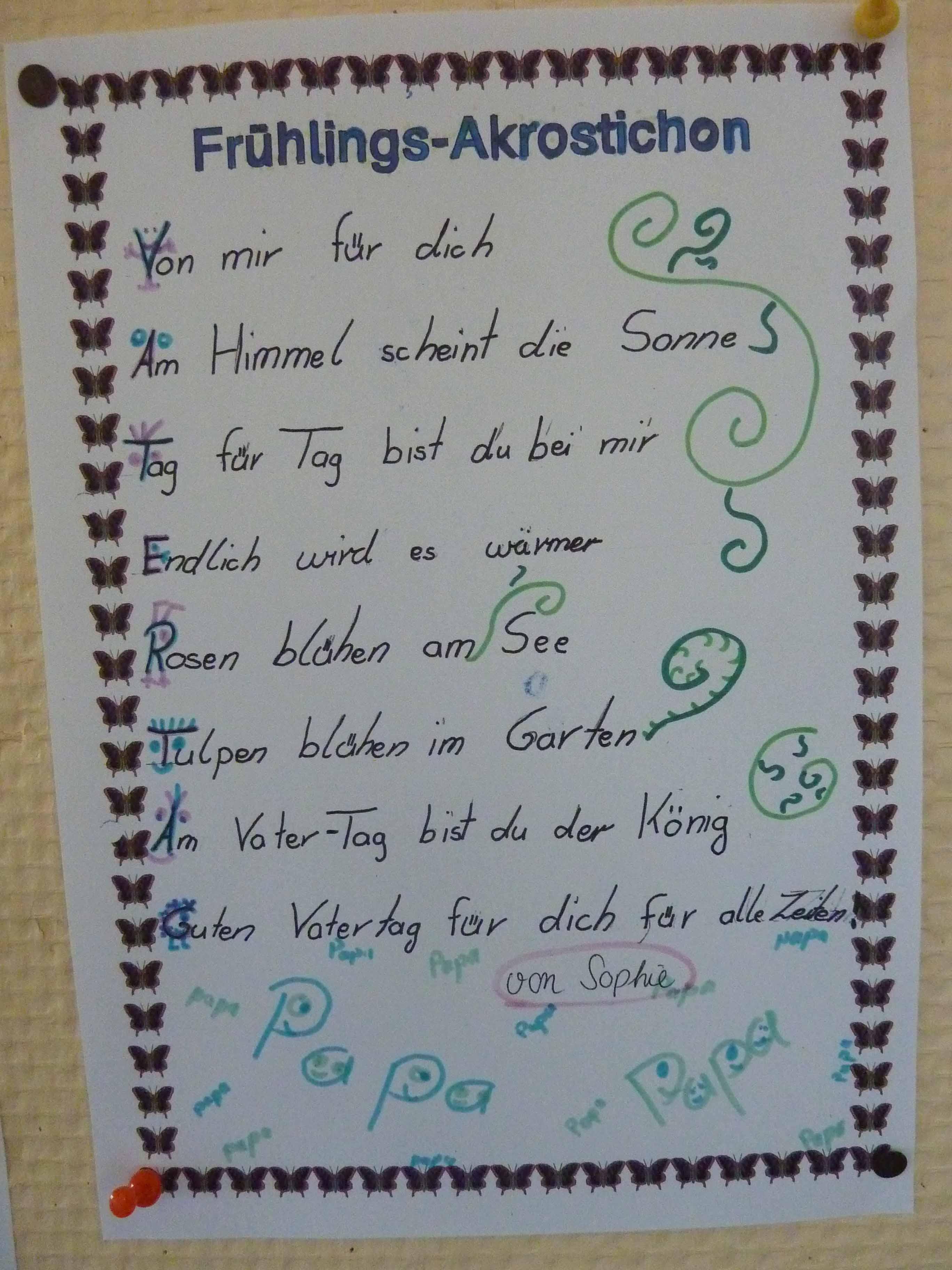 Gedichte 4 klasse abschied